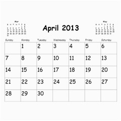 Out With The Old, In With The New   Calendar By Terrydeh   Wall Calendar 11  X 8 5  (18 Months)   1k8lpbb702on   Www Artscow Com Apr 2013