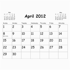 Out With The Old, In With The New   Calendar By Terrydeh   Wall Calendar 11  X 8 5  (18 Months)   1k8lpbb702on   Www Artscow Com Apr 2012