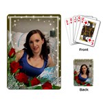Framed with red Roses Playing cards - Playing Cards Single Design