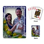 Framed with gold roses Playing cards - Playing Cards Single Design