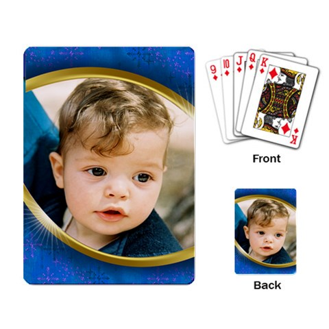 Pretty Boy Blue Playing Cards By Deborah   Playing Cards Single Design   Ern31fqkr65e   Www Artscow Com Back