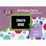 Monster Party Birthday Card 1 - 5  x 7  Photo Cards