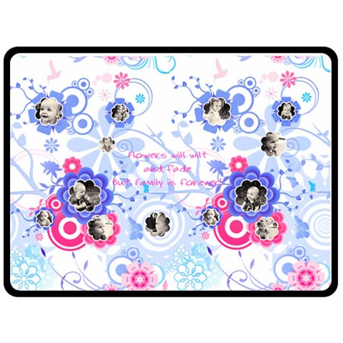 Blue Flower Xl Blanket By Birkie   Fleece Blanket (large)   N2dvozh6aghs   Www Artscow Com 80 x60 Blanket Front