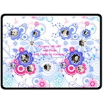 Blue Flower XL Blanket - Fleece Blanket (Large)