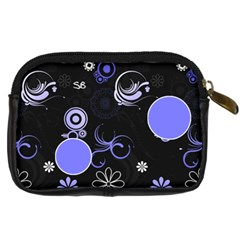 Blue Swirl Camera Case By Birkie   Digital Camera Leather Case   11tct5vtuqa9   Www Artscow Com Back