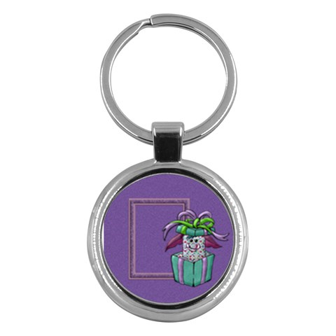 Monster Party Key Chain By Lisa Minor   Key Chain (round)   Cfau29tvqj89   Www Artscow Com Front