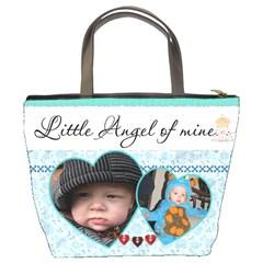 Little Angel Of Mine Bucket Bag By Lil    Bucket Bag   Yk4j81lwvfge   Www Artscow Com Back