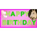 My birthday pop up card - Happy Birthday 3D Greeting Card (8x4)