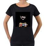 Official Rti  Maternity Black T Front