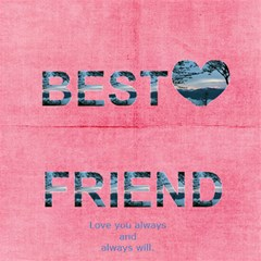 Breast Cancer Best Friend Card By Kamryn   Best Friends 3d Greeting Card (8x4)   Hy7oe7kfeo6x   Www Artscow Com Inside