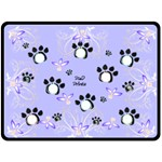 Paw Prints Blue XL Blanket - Fleece Blanket (Extra Large)