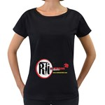 T Shirt Back Maternity Black T-Shirt