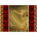 I love you with roses - I Love You 3D Greeting Card (7x5)
