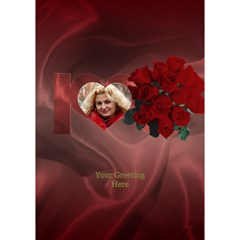 I Love You With Roses By Deborah   I Love You 3d Greeting Card (7x5)   K7740cgxsl13   Www Artscow Com Inside