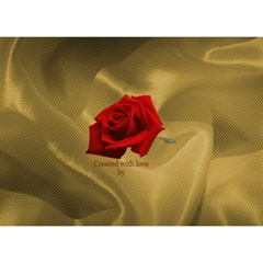 I Love You With Roses By Deborah   I Love You 3d Greeting Card (7x5)   K7740cgxsl13   Www Artscow Com Back