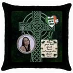 Proud to be Irish Throw Pillow Case - Throw Pillow Case (Black)
