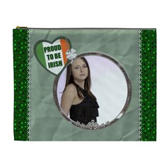 Proud To Be Irish Xl Cosmetic Bag By Lil    Cosmetic Bag (xl)   Xe764g70a2p8   Www Artscow Com Front