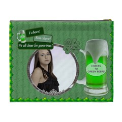 Irish Green Beer Xl Cosmetic Bag By Lil    Cosmetic Bag (xl)   Ogfuqewxi5lb   Www Artscow Com Back