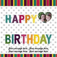 Bright Colors Happy Birthday 3d Card By Klh   Happy Birthday 3d Greeting Card (8x4)   Wcaw4vp4xorq   Www Artscow Com Inside