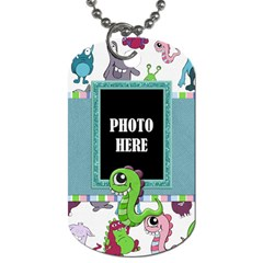 Monster Party 2 Sided Dog Tag 1 By Lisa Minor   Dog Tag (two Sides)   Pig4sodrvaqo   Www Artscow Com Front