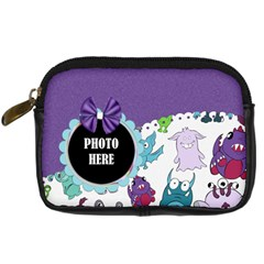 Monster Party Camera Case 1 By Lisa Minor   Digital Camera Leather Case   Vjhufm4nmgbp   Www Artscow Com Front
