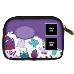 Monster Party Camera Case 1 By Lisa Minor   Digital Camera Leather Case   Vjhufm4nmgbp   Www Artscow Com Back