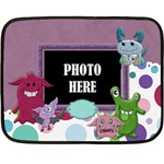 Monster Party 2 Sided Blanket 1 - Mini Fleece Blanket(Two Sides)