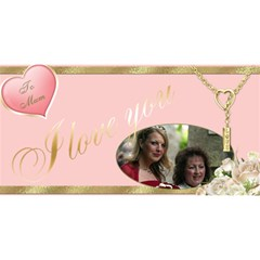 Love Mum 3d Card By Deborah   Mom 3d Greeting Card (8x4)   Lrx69q07z7se   Www Artscow Com Front