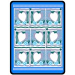 Blue Hearts XL Blanket - Fleece Blanket (Extra Large)