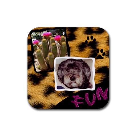 Wafflescoaster By Bernadette Simon Villaverde   Rubber Coaster (square)   7jzq2pst43tp   Www Artscow Com Front