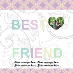 Simply Charming Best Friends 3d Card By Klh   Best Friends 3d Greeting Card (8x4)   400e26ouuyww   Www Artscow Com Inside