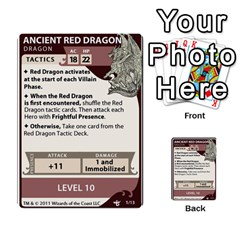 Dda   Level 10   Red Dragon By Regino Sanchez   Multi Purpose Cards (rectangle)   Slry77m96wt7   Www Artscow Com Front 1