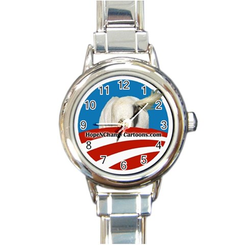 Ladies Hope N  Change Limited Edition Watch By Stilton Jarlsberg   Round Italian Charm Watch   Pa2p6i0nhhvn   Www Artscow Com Front