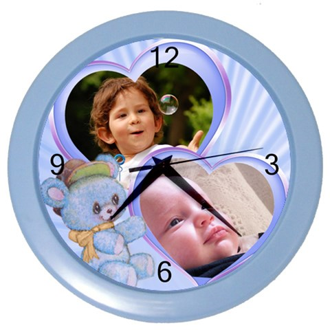 Little Prince Wall Clock By Deborah   Color Wall Clock   M6wztwl5715n   Www Artscow Com Front