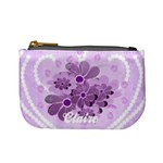 lilac flowers mini coin purse