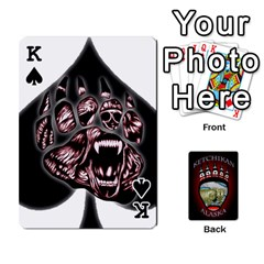 King Ketchikan Bear Paw Cards By Jeff Whitesides   Playing Cards 54 Designs   L6az46js4qsx   Www Artscow Com Front - SpadeK