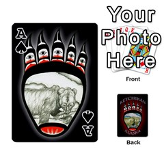 Ace Ketchikan Bear Paw Cards By Jeff Whitesides   Playing Cards 54 Designs   L6az46js4qsx   Www Artscow Com Front - SpadeA
