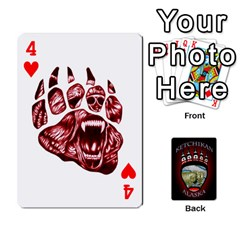 Ketchikan Bear Paw Cards By Jeff Whitesides   Playing Cards 54 Designs   L6az46js4qsx   Www Artscow Com Front - Heart4