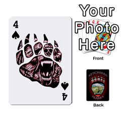 Ketchikan Bear Paw Cards By Jeff Whitesides   Playing Cards 54 Designs   L6az46js4qsx   Www Artscow Com Front - Spade4