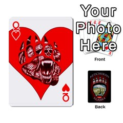 Queen Ketchikan Bear Paw Cards By Jeff Whitesides   Playing Cards 54 Designs   L6az46js4qsx   Www Artscow Com Front - HeartQ