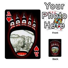 Ace Ketchikan Bear Paw Cards By Jeff Whitesides   Playing Cards 54 Designs   L6az46js4qsx   Www Artscow Com Front - HeartA