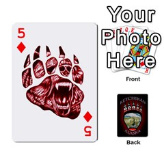 Ketchikan Bear Paw Cards By Jeff Whitesides   Playing Cards 54 Designs   L6az46js4qsx   Www Artscow Com Front - Diamond5