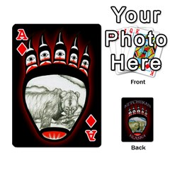 Ace Ketchikan Bear Paw Cards By Jeff Whitesides   Playing Cards 54 Designs   L6az46js4qsx   Www Artscow Com Front - DiamondA