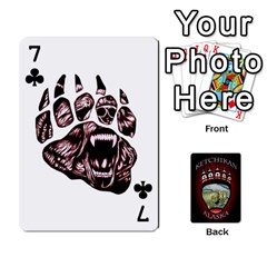 Ketchikan Bear Paw Cards By Jeff Whitesides   Playing Cards 54 Designs   L6az46js4qsx   Www Artscow Com Front - Club7