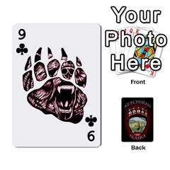 Ketchikan Bear Paw Cards By Jeff Whitesides   Playing Cards 54 Designs   L6az46js4qsx   Www Artscow Com Front - Club9