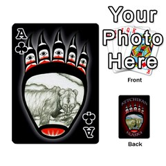 Ace Ketchikan Bear Paw Cards By Jeff Whitesides   Playing Cards 54 Designs   L6az46js4qsx   Www Artscow Com Front - ClubA