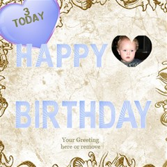 Our Birthday Boy 3d By Deborah   Happy Birthday 3d Greeting Card (8x4)   Zffdjvq2nqms   Www Artscow Com Inside
