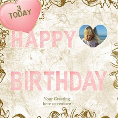 Our Birthday Girl 3d By Deborah   Happy Birthday 3d Greeting Card (8x4)   63vl9p8gzhzo   Www Artscow Com Inside