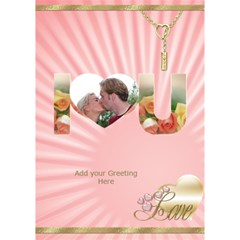 Pink I Love You 3d Card By Deborah   I Love You 3d Greeting Card (7x5)   Xfk136lhszr3   Www Artscow Com Inside
