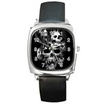 SKULL WATCH - Square Metal Watch
